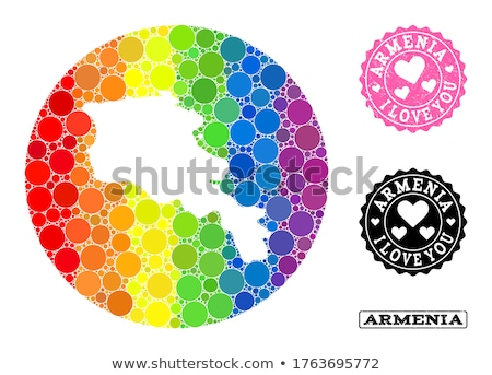 Armênia homossexual mapa país orgulho bandeira Foto stock © tony4urban