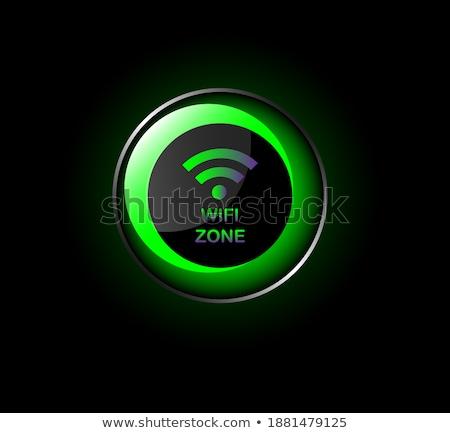 4g felirat zöld vektor ikon terv Stock fotó © rizwanali3d