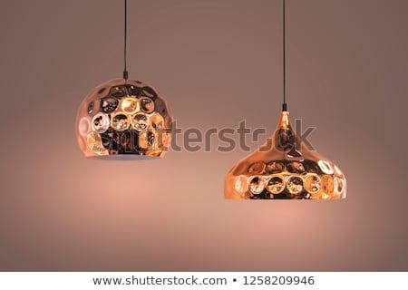 decorative modern illumination with oval elements on ceiling stock photo © paha_l
