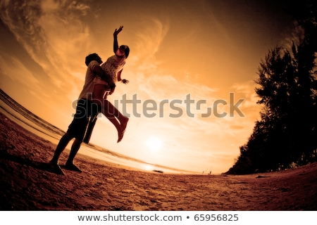 Happiness And Romantic Scene Of Love Couples Partners Stok fotoğraf © vichie81