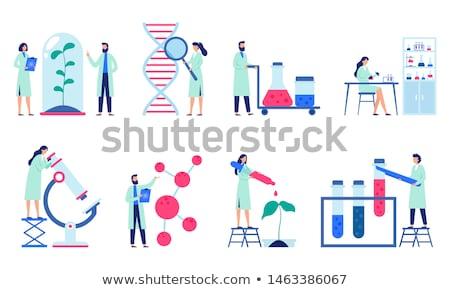laboratory design flat stock photo © jossdiim