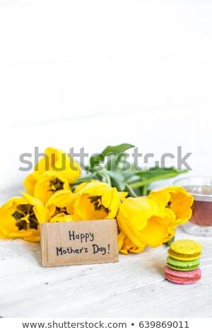 beker · thee · lavendel · bloemen · oude · houten - stockfoto © mady70