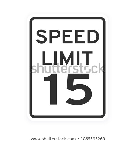 Geschwindigkeitsbegrenzung 15 hausgemachte gemalt Holzbrett maximale Stock foto © Hofmeester