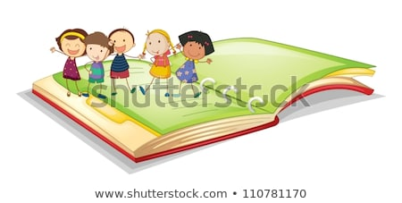 Chained hand holding open book Stock photo © cherezoff