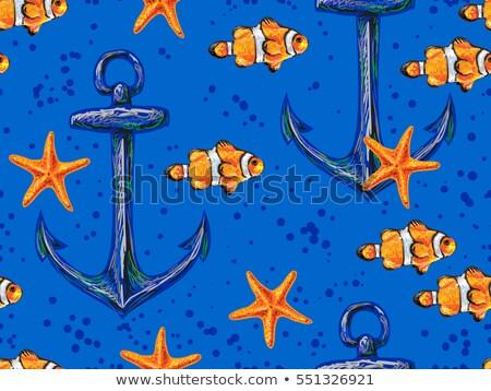 deniz · hayvanları · kart · gülümseme · deniz · dizayn - stok fotoğraf © studiostoks