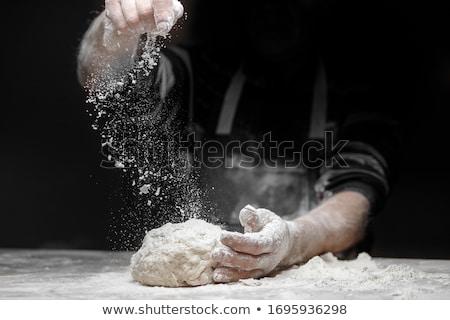 Pizza pişirmek maya eller top Stok fotoğraf © Digifoodstock