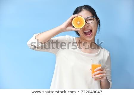 kobieta · śniadanie · bed · kobiet · pić - zdjęcia stock © dash