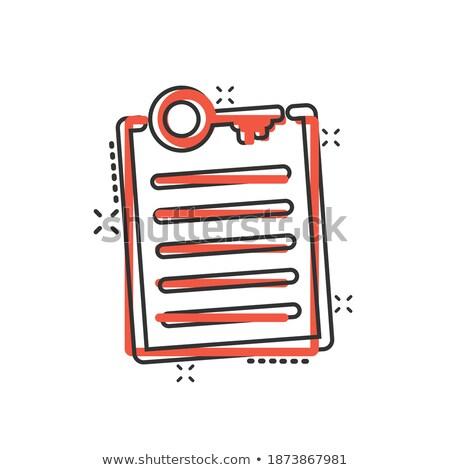 Rajz kulcs címke szöveg szavak izolált Stock fotó © adrian_n