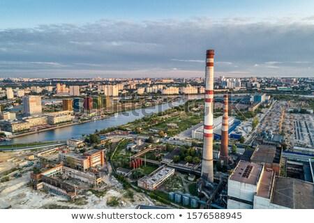 воздуха · загрязнения · завода · дым · закат · глобальный - Сток-фото © zurijeta