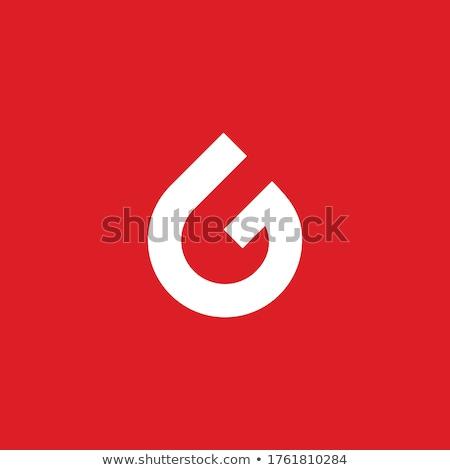 Mektup g gaz örnek beyaz okul arka plan Stok fotoğraf © bluering