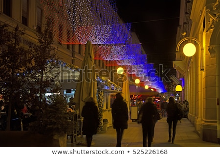 Calle Zagreb advenimiento Croacia árbol Foto stock © smuki