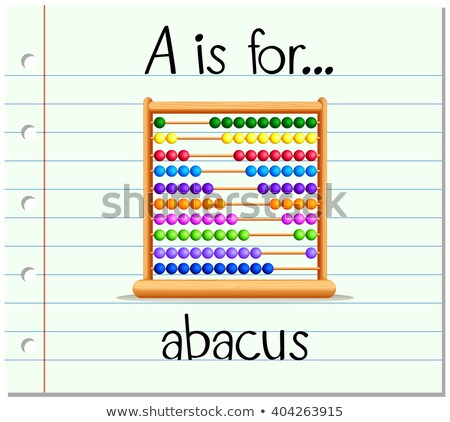 Flashcard letter A is for abacus Stock photo © bluering