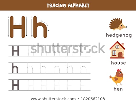 Flashcard letter H is for hen Stock photo © bluering