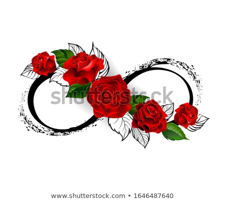 Infinity symbol with red roses Stock photo © blackmoon979