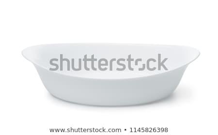 Głęboko owalny porcelana naczyń piekarz Zdjęcia stock © Digifoodstock