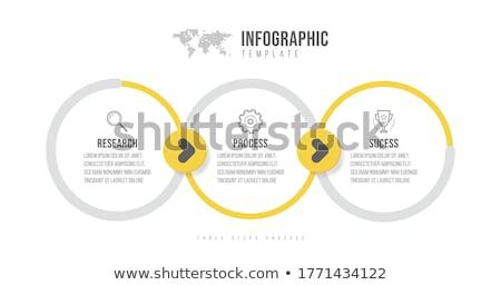 Renkli dizayn üç seçenekleri afiş Stok fotoğraf © SArts