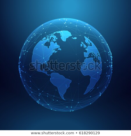 digital technology planet earth inside network lines array Stock photo © SArts