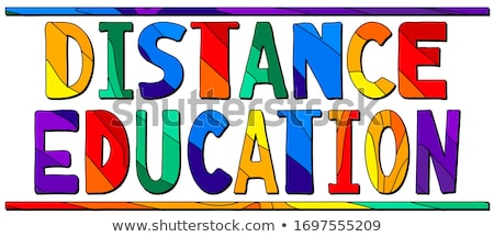 Online Training in Multicolor. Doodle Design. Stock photo © tashatuvango