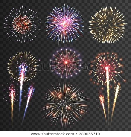bursting firworks vector background design Stock photo © SArts