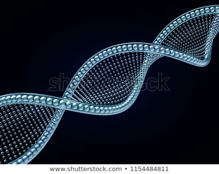 Close up of a diagonal DNA chain against a black background. 3D  Stock photo © user_11870380