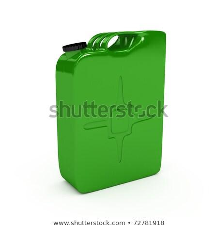 Refuel jerrican over white background Stock photo © blotty
