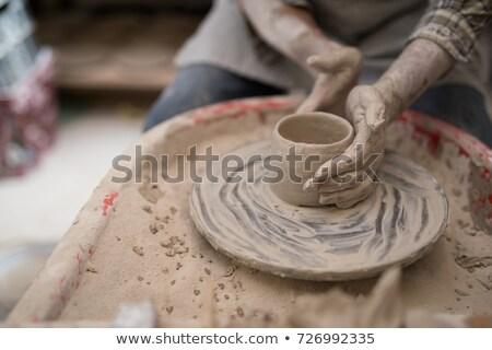 мужчины глина Керамика семинар бизнеса Сток-фото © wavebreak_media