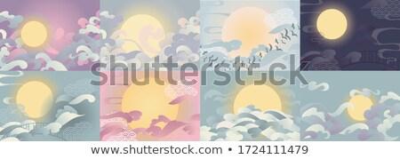Vektor kínai fesztivál arany színek skicc Stock fotó © TRIKONA