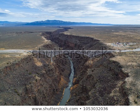Rocks Above Rio Grande River Gorge New Mexico Stock photo © Qingwa