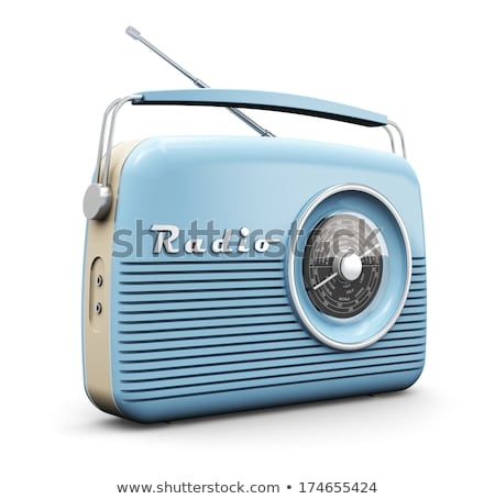 blue retro radio stock photo © johanh