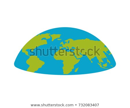 flat earth planet semicircle. Universe Vector illustration Stock photo © popaukropa