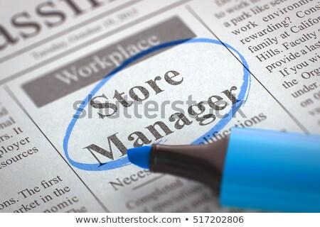 branch manager job vacancy 3d stock photo © tashatuvango
