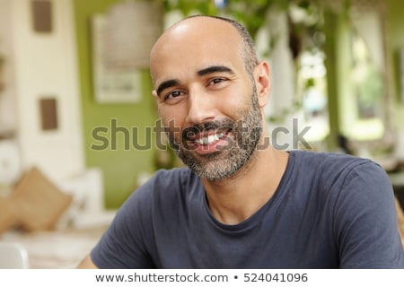 Középkorú férfi park férfi apa mosolyog boldogság Stock fotó © IS2