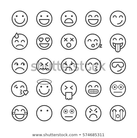 emozioni · set · computer · sorriso · faccia - foto d'archivio © rogistok