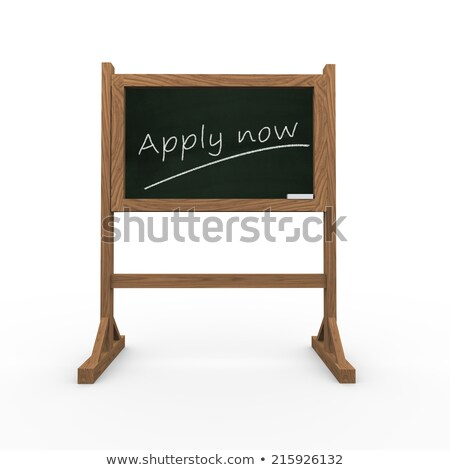 apply now concept on black chalkboard 3d rendering stock photo © tashatuvango