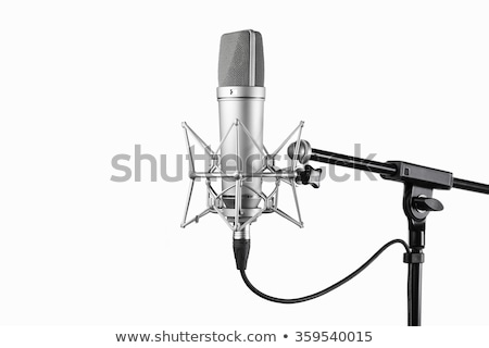 Audio microphone isolated on dark background Stock photo © stevanovicigor