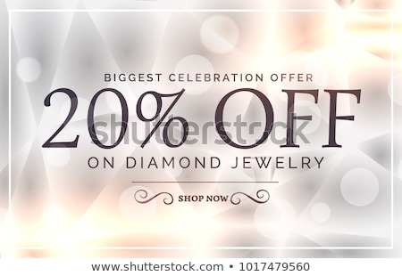 premium jewelry style sale banner vector template stock photo © sarts