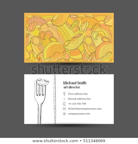 Espaguetis italiano pasta creativa diseno plantilla de diseño Foto stock © blumer1979