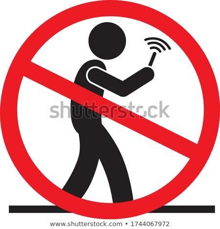 Verboden lopen mobiele telefoon illustratie weg man Stockfoto © adrenalina