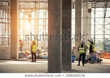 állványzat építkezés társasház ipari épület ipar Stock fotó © stevanovicigor