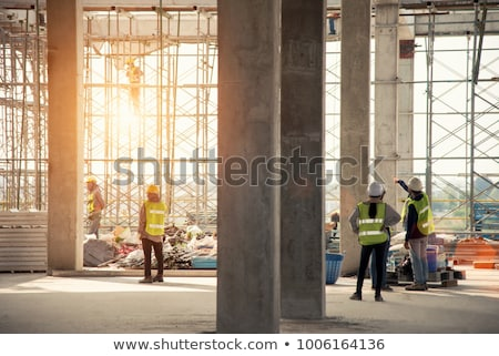 Andaime industrial edifício indústria Foto stock © stevanovicigor