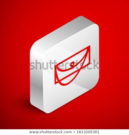 Women red purse isometric 3D icon. Stock photo © studioworkstock