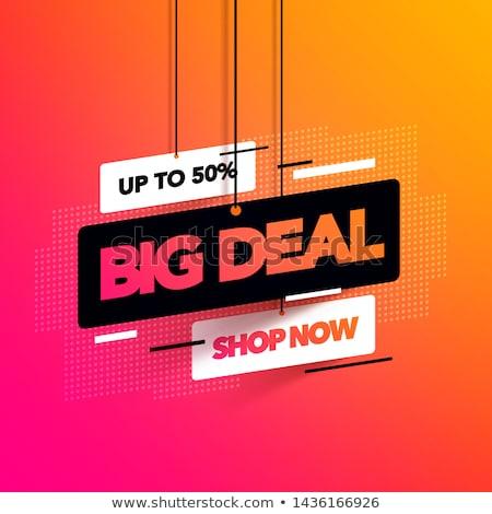 Anúncio especial venda oferecer azul praça Foto stock © studioworkstock
