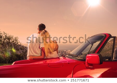 Couple admiring view on convertible stock photo © IS2
