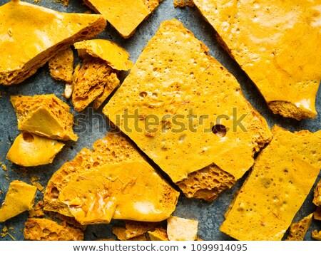 rustic homemade golden honeycomb toffee Stock photo © zkruger