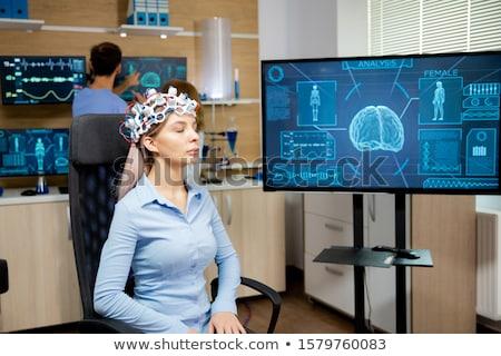 Fej nő orvosi egészség kórház szín Stock fotó © monkey_business