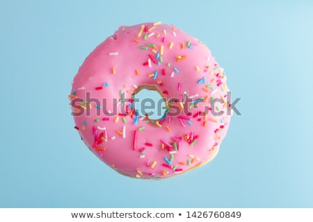 Glazed doughnut with pink sprinkles Stock photo © dash