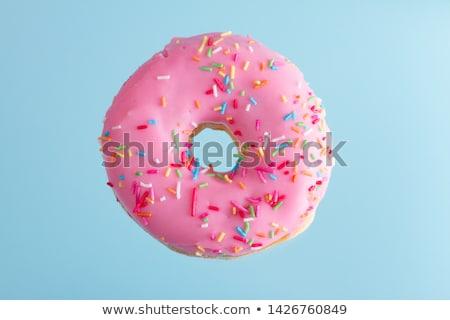 glazed doughnut with pink sprinkles stock photo © dash