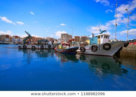 O Grove Ogrove port with fishing boats Pontevedra Stock photo © lunamarina