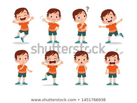 Kid emoticon glimlach sport Stockfoto © yayayoyo