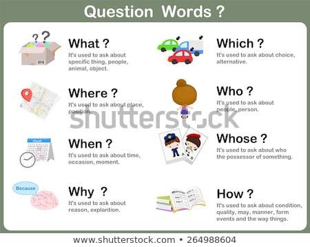 英語 言葉 脳 実例 学校 ストックフォト © bluering